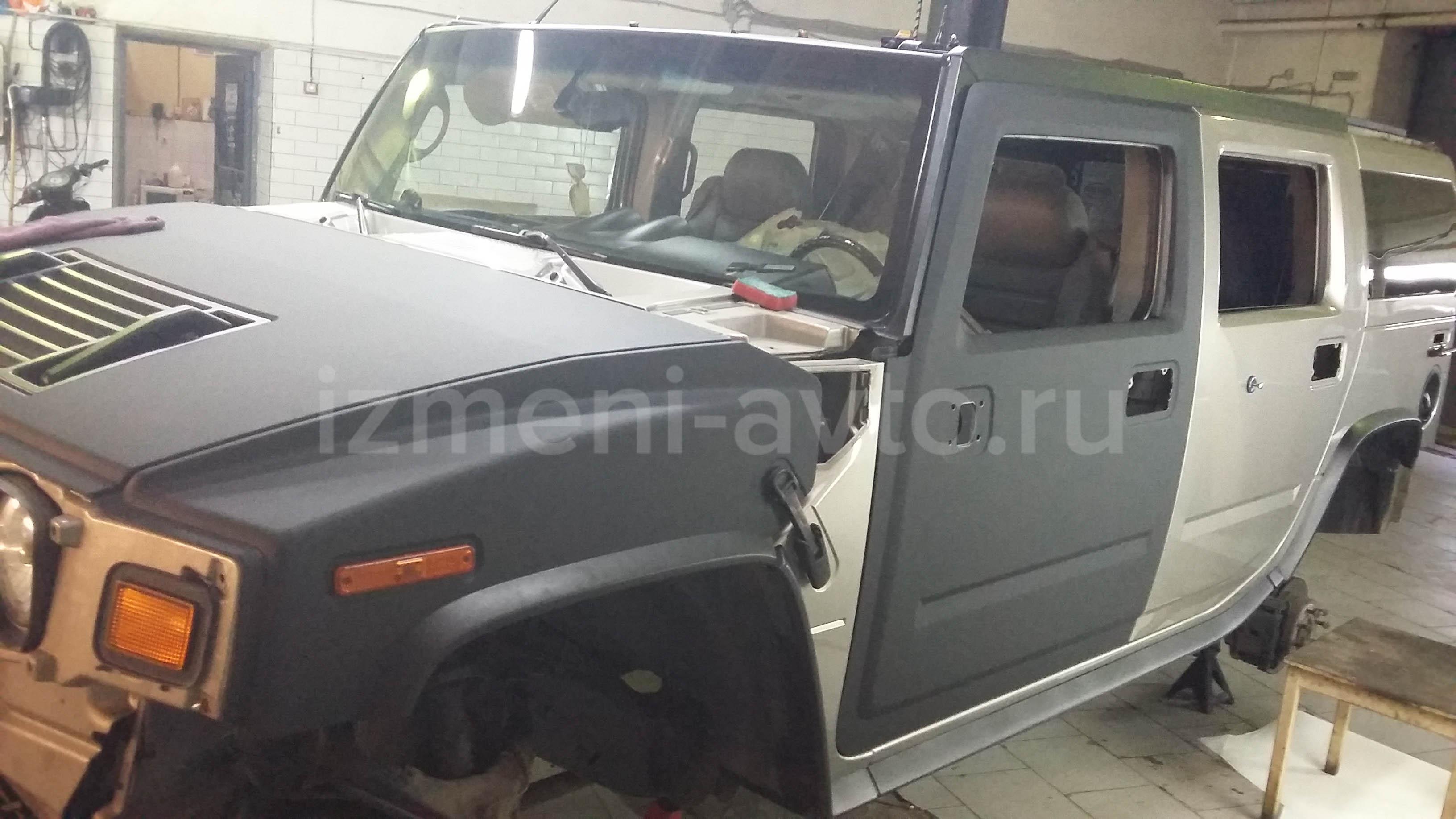 Оклейка Hummer H3 в матовую пленку в Москве - «Измени Авто»
